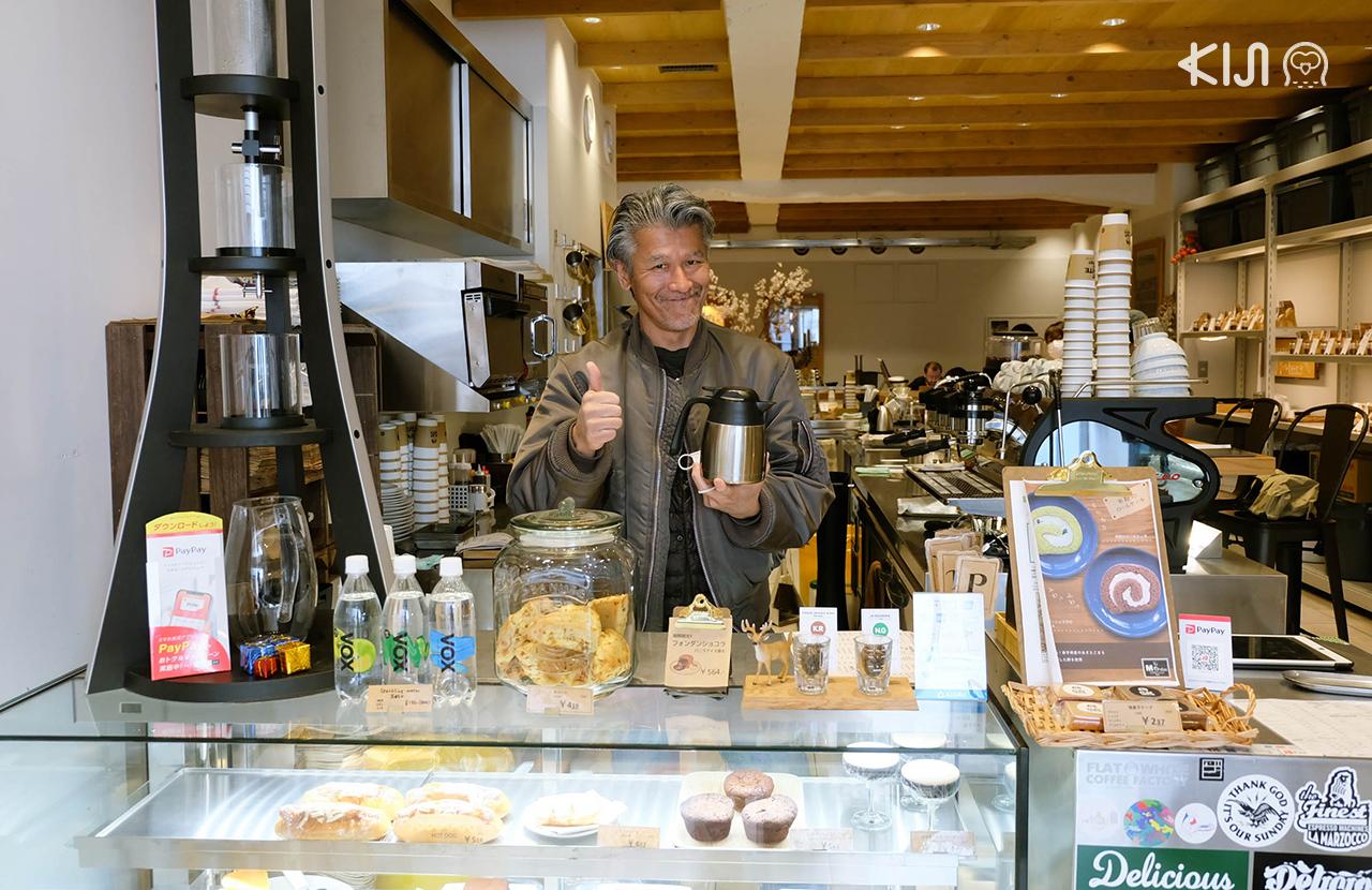 ร้านกาแฟในเซนได Flat White Coffee Factory สาขา Downtown Sendai