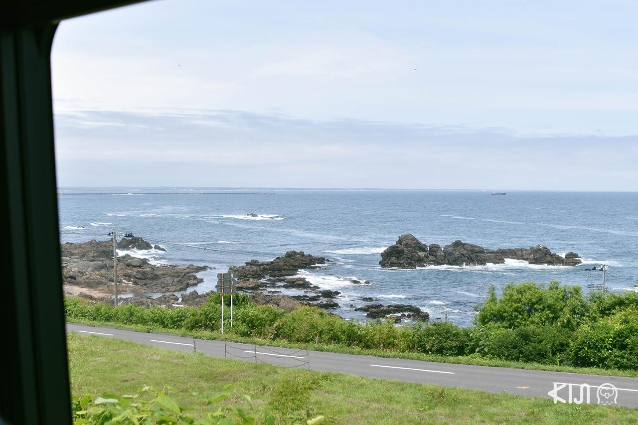 ชมวิวหาด Tanesashi จากขบวน TOHOKU EMOTION