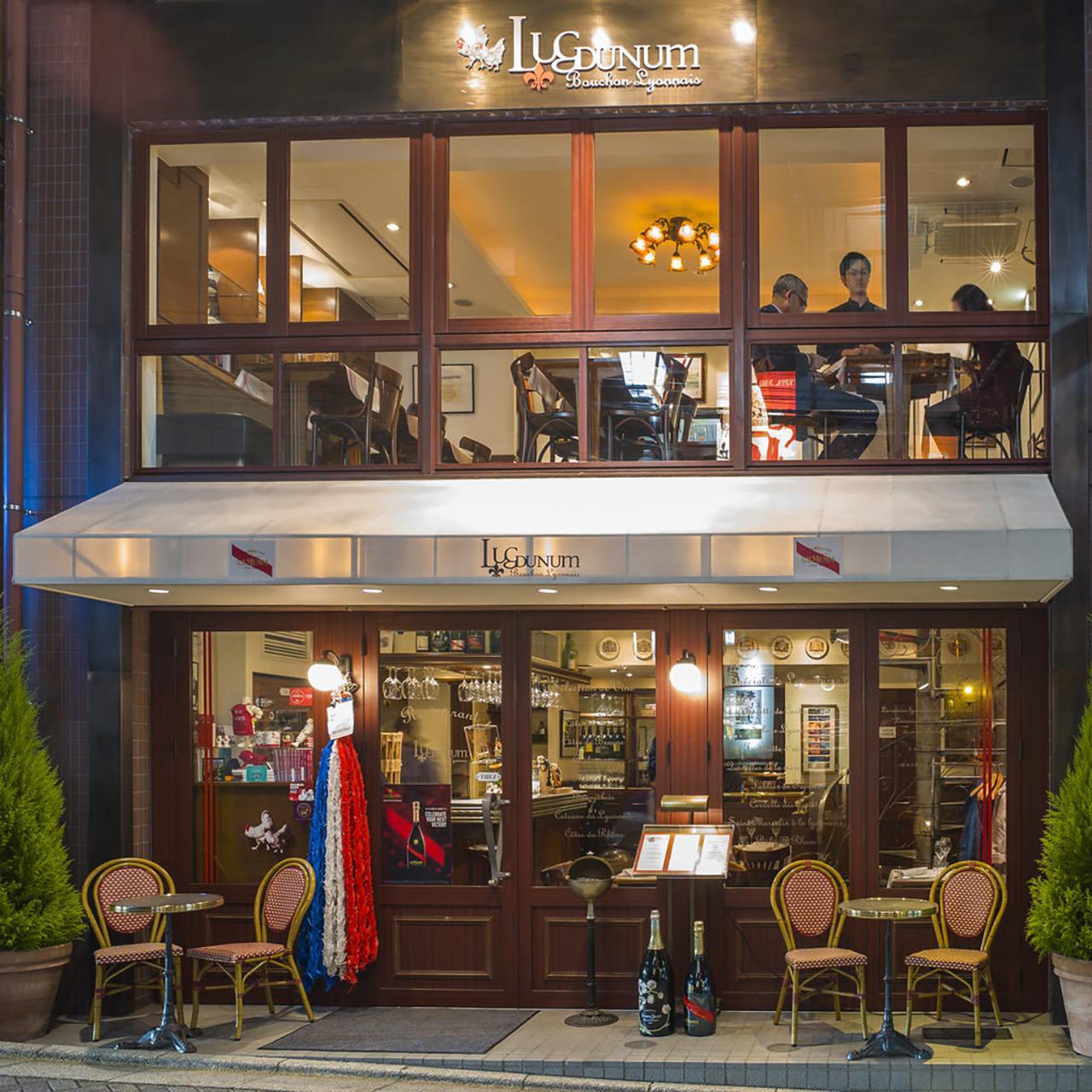 ร้านอาหารฝรั่งเศส Lugdunum Bouchon Lyonnais ใน Kagurazaka