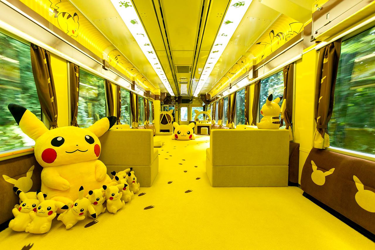 ภายในขบวนรถไฟ POKÉMON with YOU Train