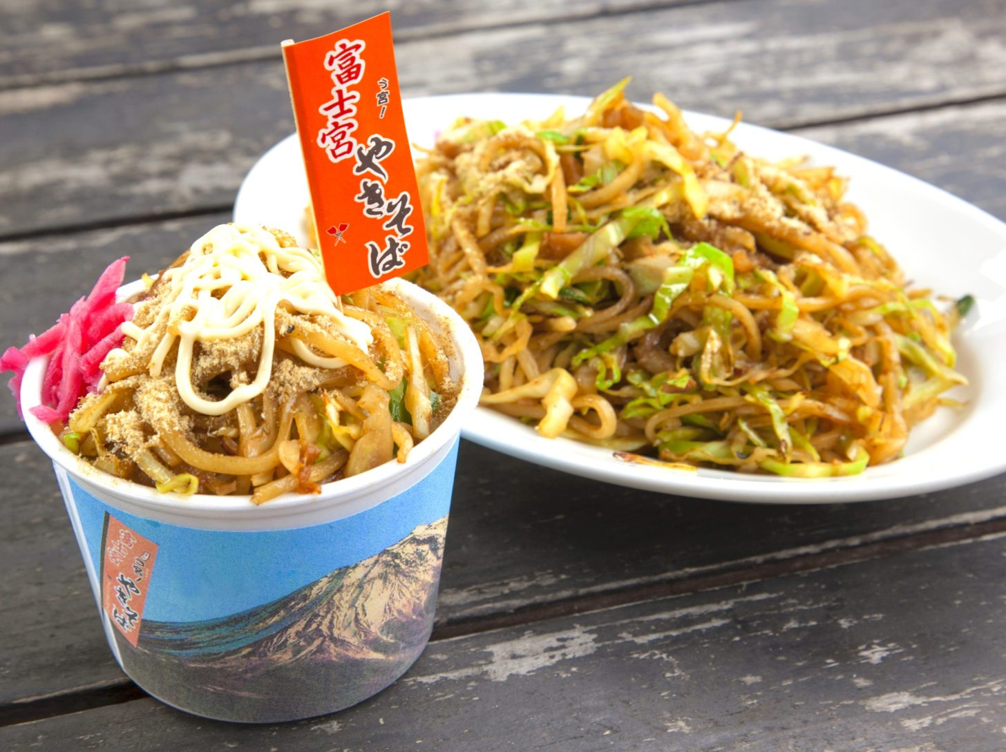 อาหาร ชิซูโอกะ : ฟูจิโนมิยะ ยากิโซบะ (Fujinomiya Yakisoba)