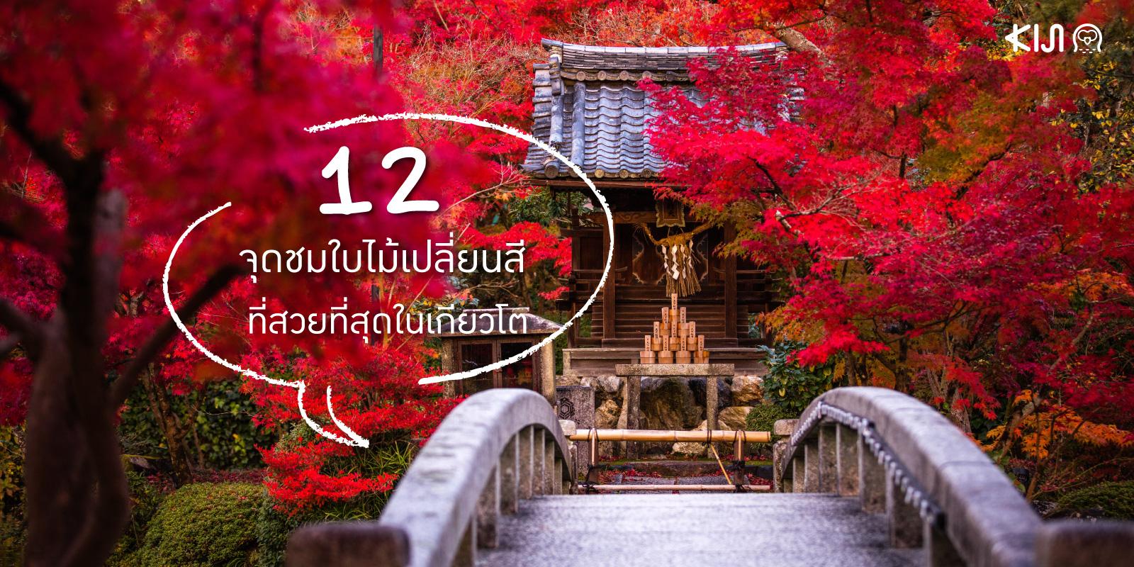 12 จุดชมใบไม้เปลี่ยนสี ใน เกียวโต