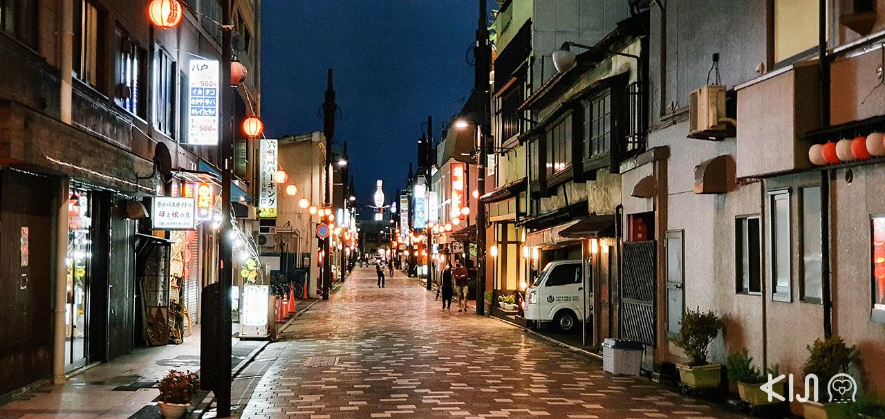 ท่องเที่ยวในยามค่ำคืนที่ Miroku Yokocho