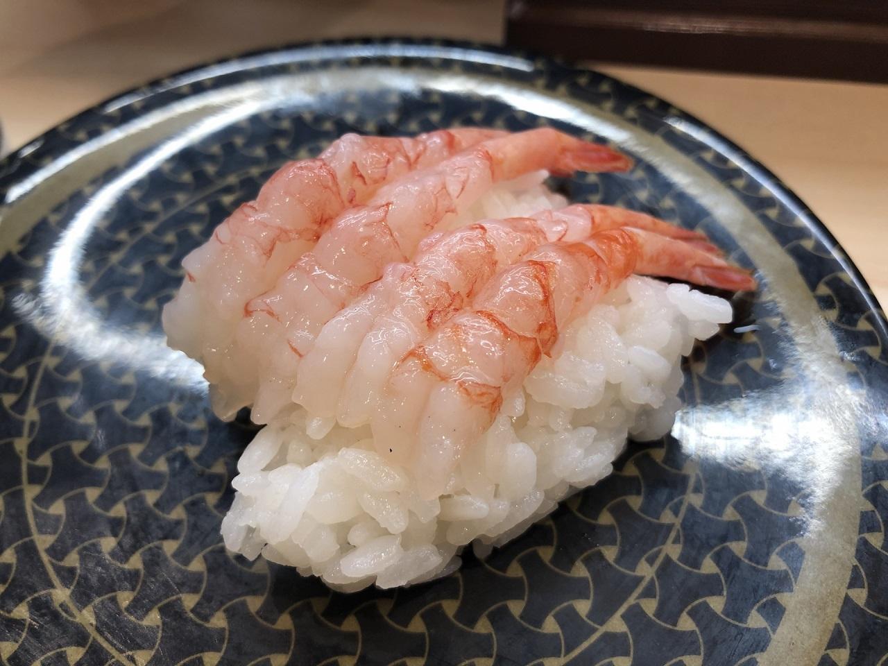 หน้าซูชิ ในญี่ปุ่น - อามะเอบิ (Amaebi)
