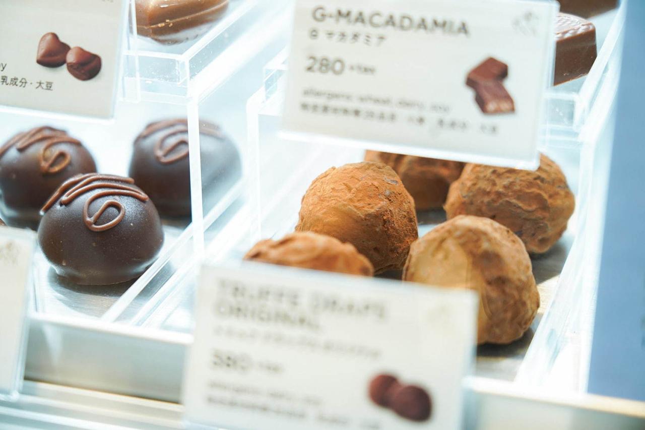 ช็อกโกแลตในร้าน GODIVA café Tokyo
