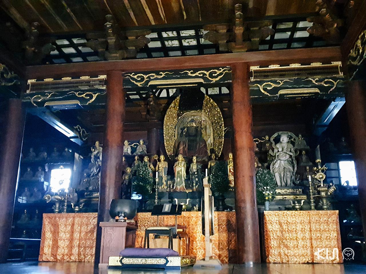 ไหว้พระขอพรที่ โฮออนจิ (Hoonji Temple) ใน โทโฮคุ ช่วง ใบไม้เปลี่ยนสี
