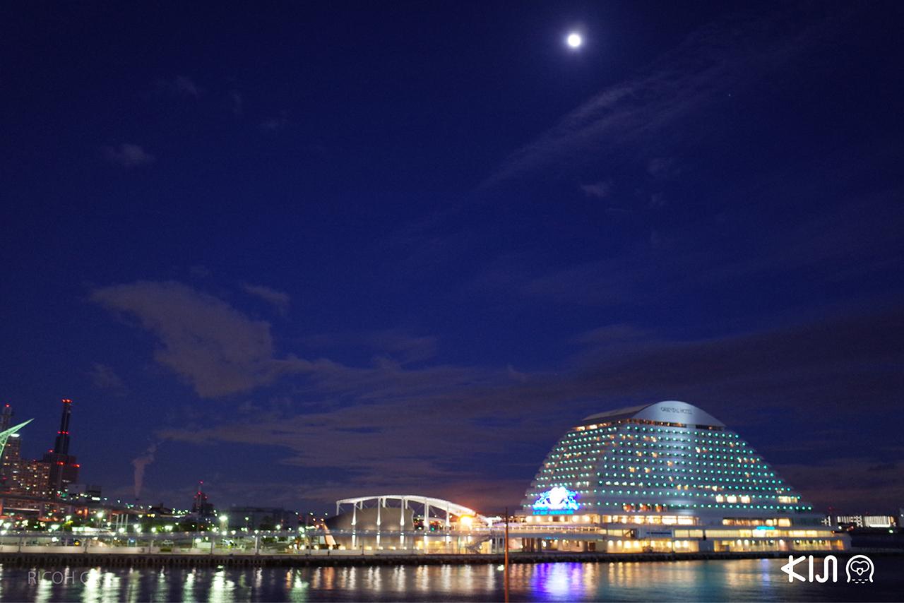รับลมชมวิวสวยๆ ยามค่ำคืนที่ โกเบฮาร์เบอร์แลนด์ (Kobe Harborland)