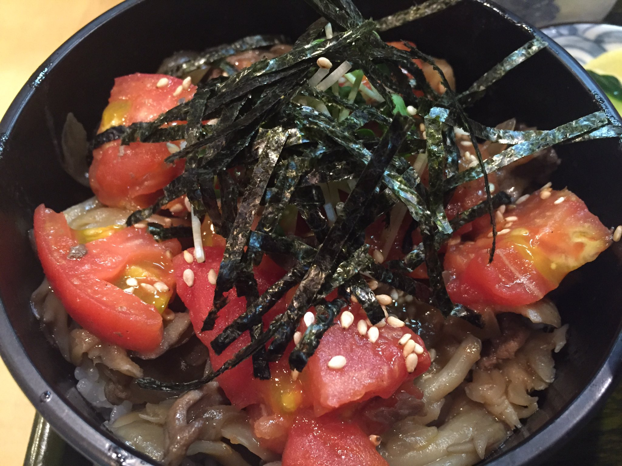 อาหารท้องถิ่น จ.กิฟุ - ข้าวหน้ามะเขือเทศ (Tomato Don)