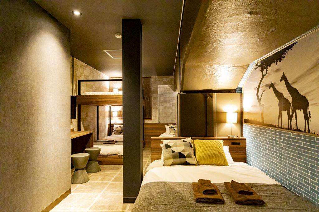 บรรยากาศห้องพักของ Under Railway Hotel Akihabara
