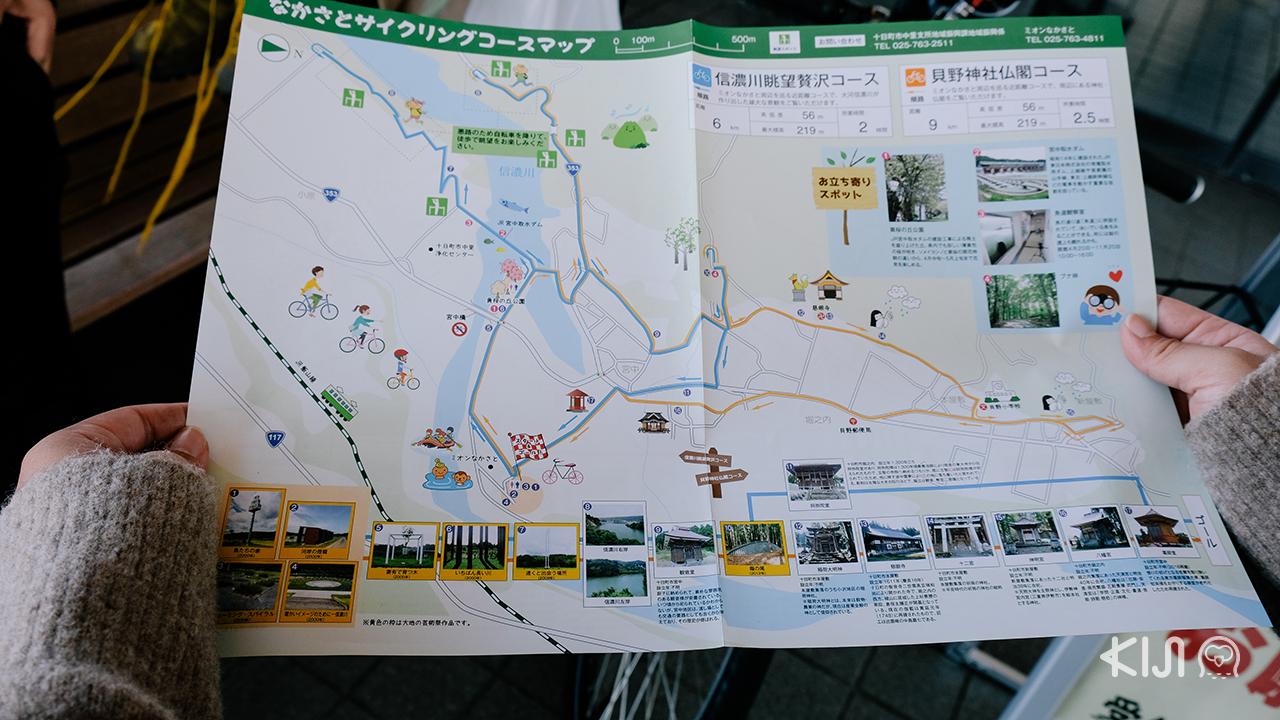 แผนที่ท่องเที่ยวในมิออน นาคาซาโตะ ไปปั่นจักรยนรอบเมือง โทคามาจิ กัน!