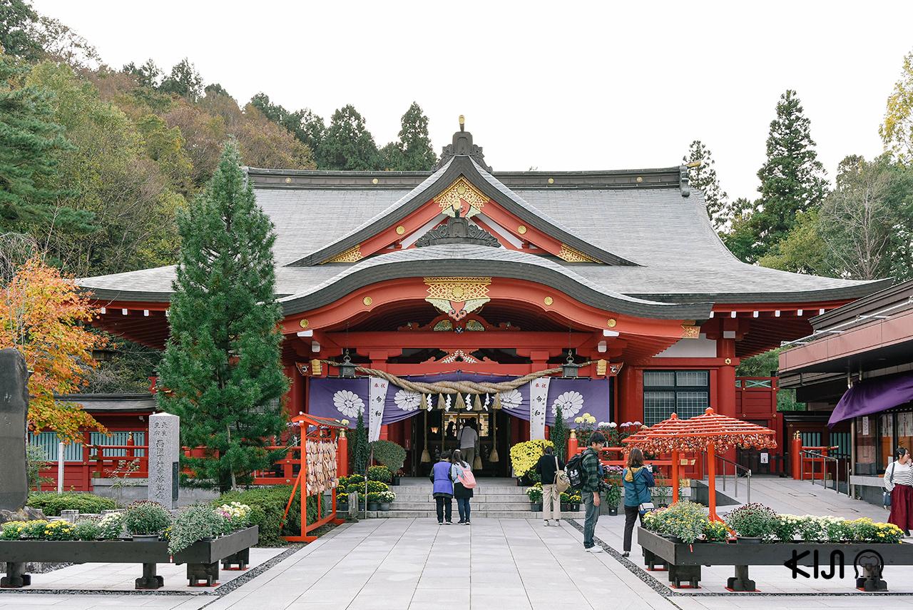 ศาลเจ้าที่เราสามารถแวะระหว่างมา ชมซากุระ ในจังหวัด มิยากิ ได้