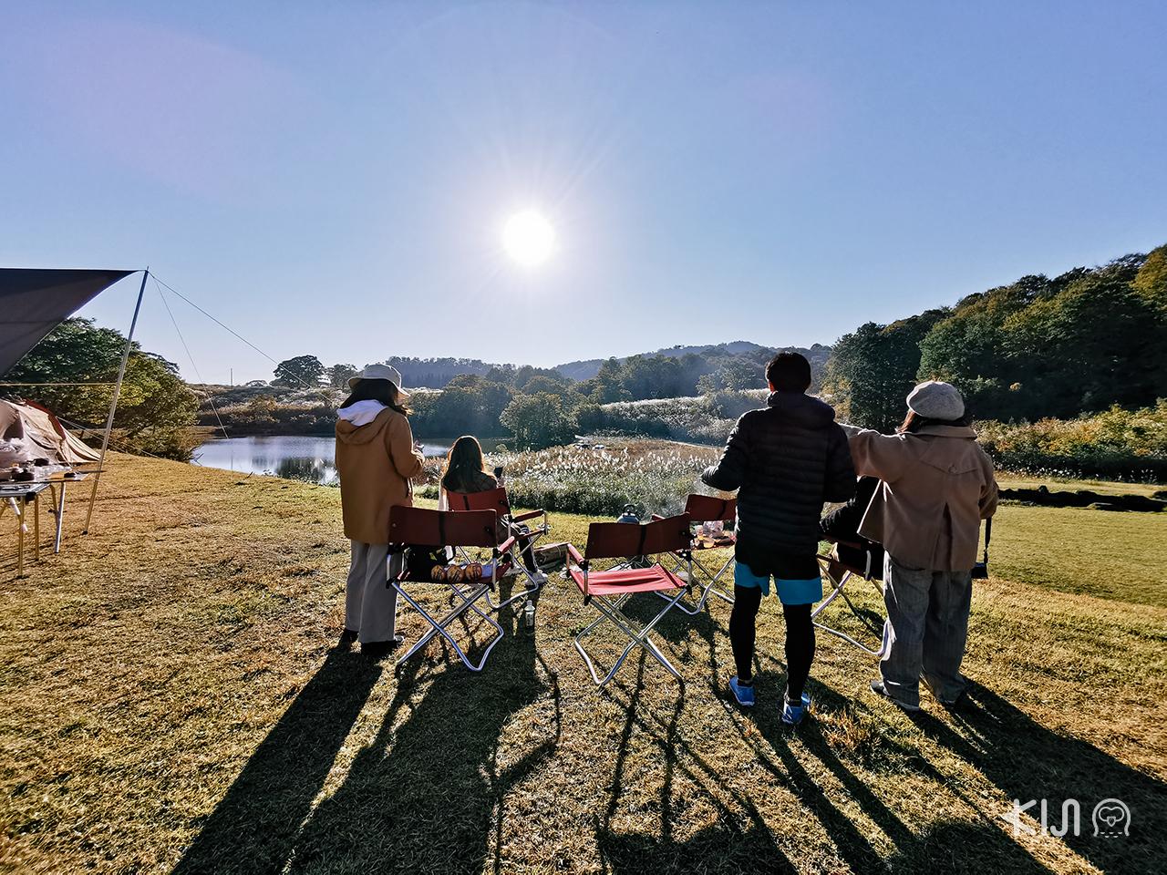 ชมวิวพระอาทิตย์ตกยามเย็นที่ไดกอนจิ โคเก็นแห่งเมืองโทคามาจิ
