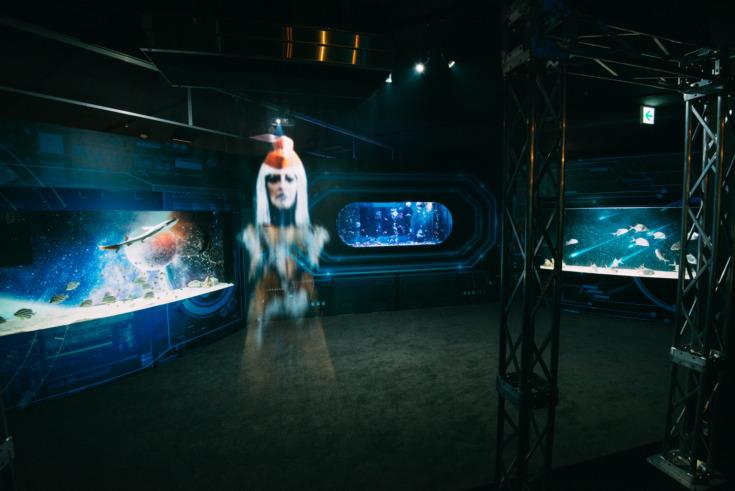 ตู้ปลาโชว์ในธีม UNDER WATER SPACE