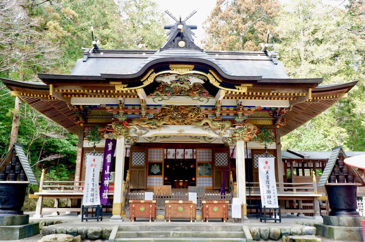 สถานที่เที่ยวจ.ไซตามะ (Saitama) ฤดูใบไม้ร่วง - ศาลเจ้าโฮโดซัง (Hodosan Shrine)