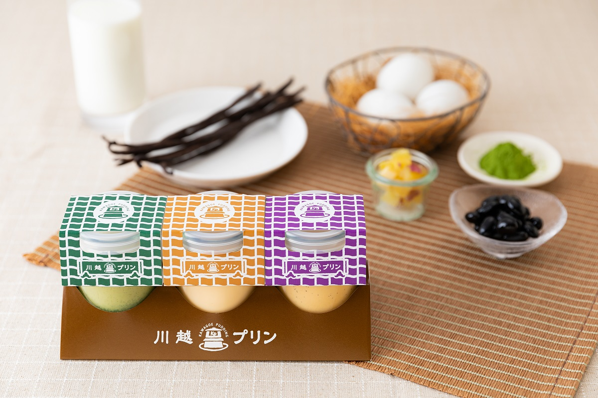 พุดดิ้งมันหวาน ขนมประจำ ฤดูใบไม้ร่วง และรสอื่นๆ จากร้าน Kawagoe Pudding เมืองคาวาโกเอะ จ.ไซตามะ