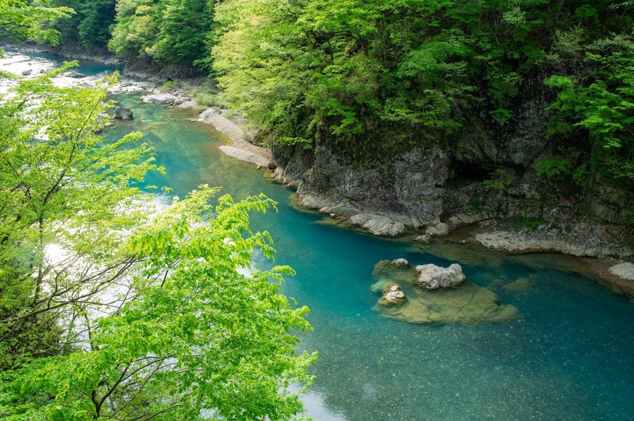 """สถานที่เที่ยวในภูมิภาค """"โทโฮคุ"""" ฤดูร้อน - หุบเขาดาคิกาเอริ (Dakigaeri Gorge) จ.อาคิตะ"""