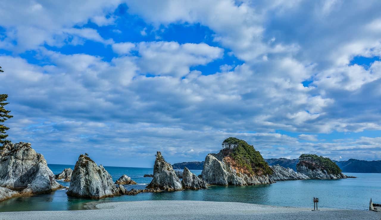 ที่เที่ยวอิวาเตะ (Iwate) - Jodogahama Beach