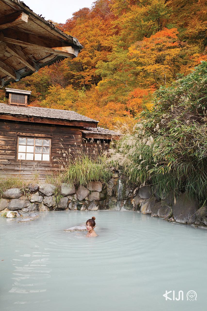 เที่ยวอาคิตะ พร้อมแช่ออนเซ็นสีน้ำนมในตำนานที่ Nyuto Onsen