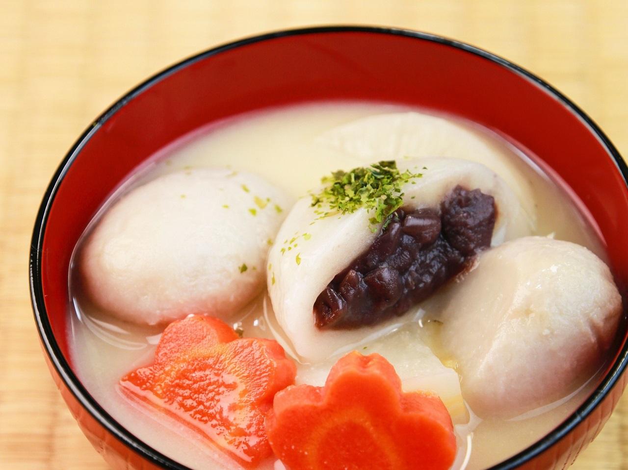 อาหารขึ้นชื่อ จ.คางาวะ (Kagawa) - An-mochi Zoni
