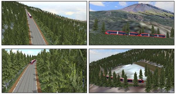 แบบจำลองแผนก่อสร้างทางรถไฟ LRT