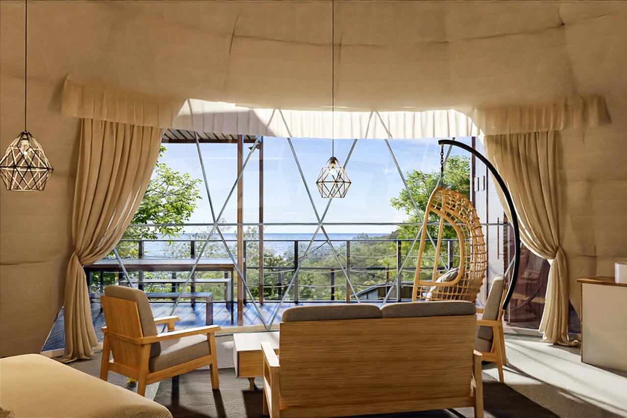 ตัวอย่างภายในห้องพักที่ Glamping Resort Awaji