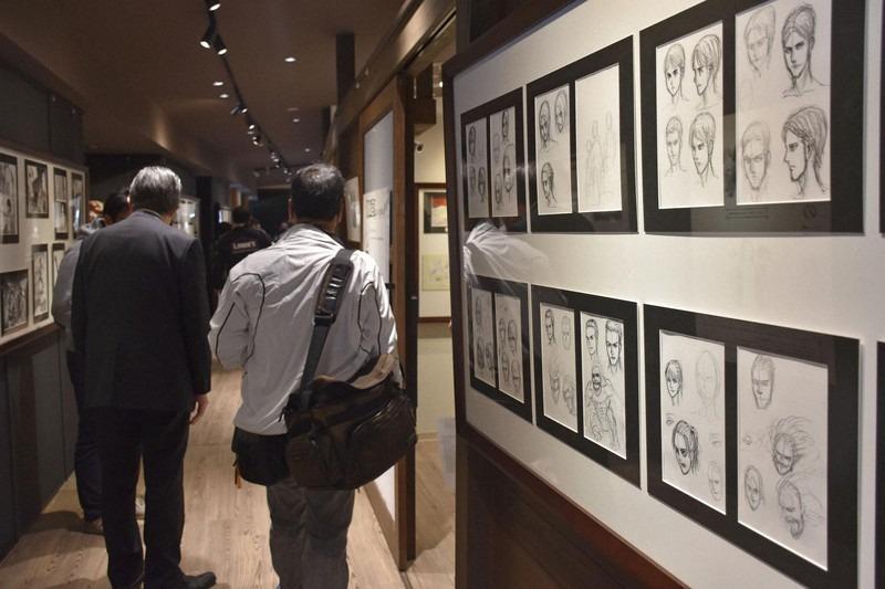 ชมภาพต้นฉบับผ่าพิภพไททันหายากที่ Attack on Titan in HITA Museum