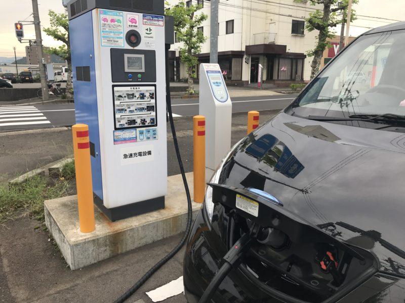 บริการใน ร้านสะดวกซื้อญี่ปุ่น : สถานีชาร์จรถยนต์ไฟฟ้า (EV Charging Station)