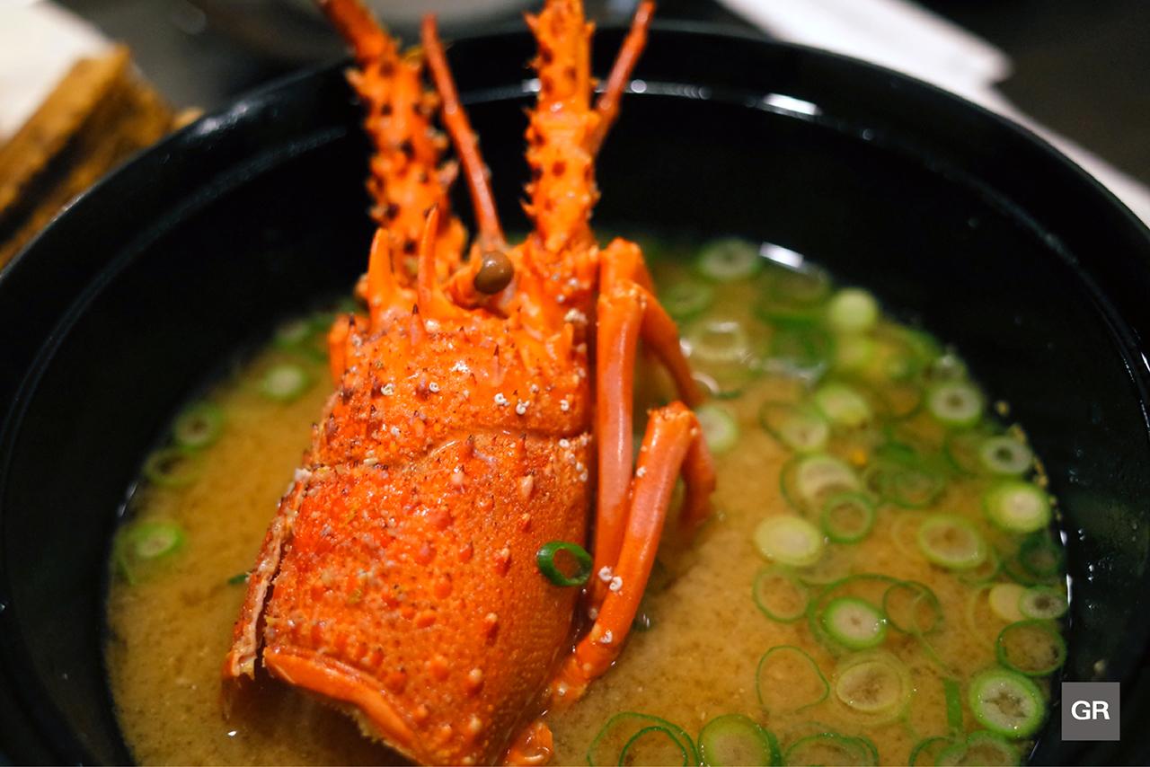 ซุปหัว กุ้งมังกรอิเสะ (ISE EBI Soup) ของร้าน KAGETU