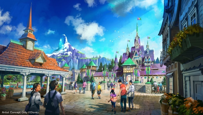 """ธีม """"Frozen Area"""" ในโซน Fantasy Springs ที่ Tokyo DisneySea"""
