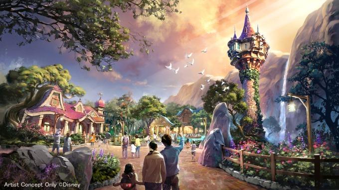 """ธีม """"Tangled Area"""" ในโซน Fantasy Springs ที่ Tokyo DisneySea"""