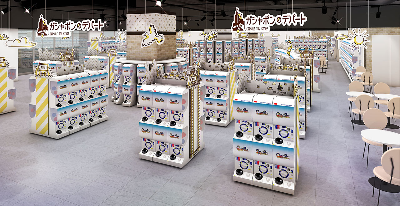 ภายใน Gashapon Department Store มีกาชาปองให้เลือกมากถึง 3,000 รายการ