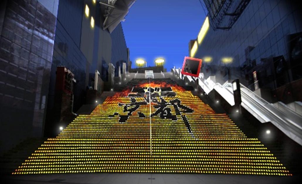 ไลท์อัพยามค่ำคืนจากอีเว้นท์ Godzilla VS Kyoto ชมฟรีที่เกียวโตทาวเวอร์