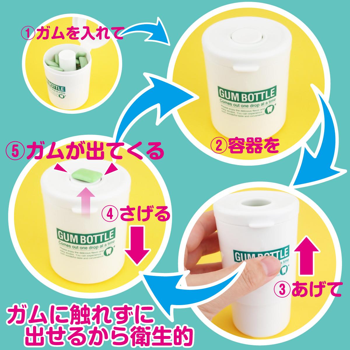 Gum Bottle โหลที่สามารถหยิบหมากฝรั่งได้โดยไม่เปื้อนมือ