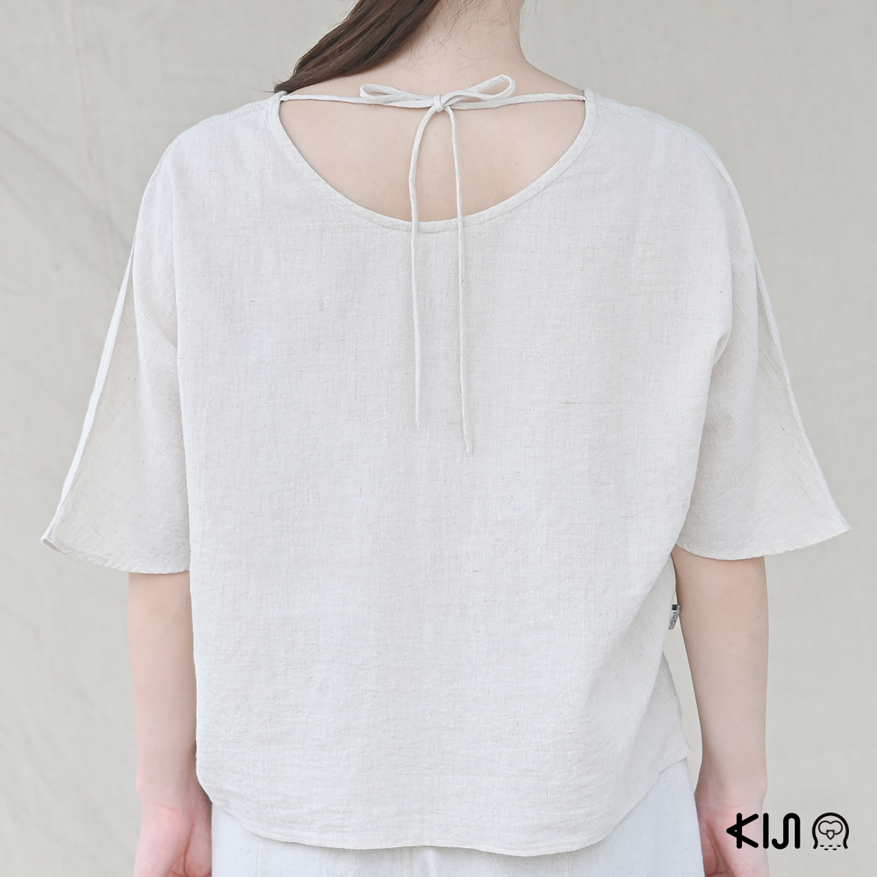 planeta ORGANICA Ribbon Pullover เสื้อสวมหัวแขนสั้นผลิตจากใยกัญชง 100% น้ำหนักเบา สวมใส่สบาย