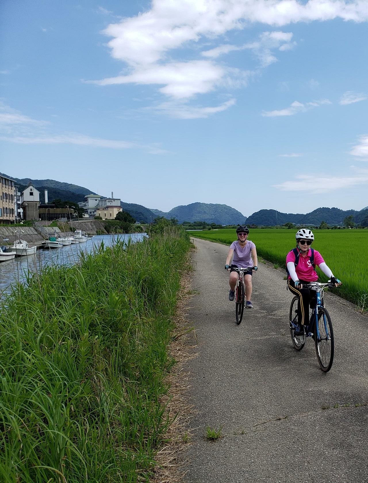 ปั่นจักรยาน แม่น้ำมารุยามะ