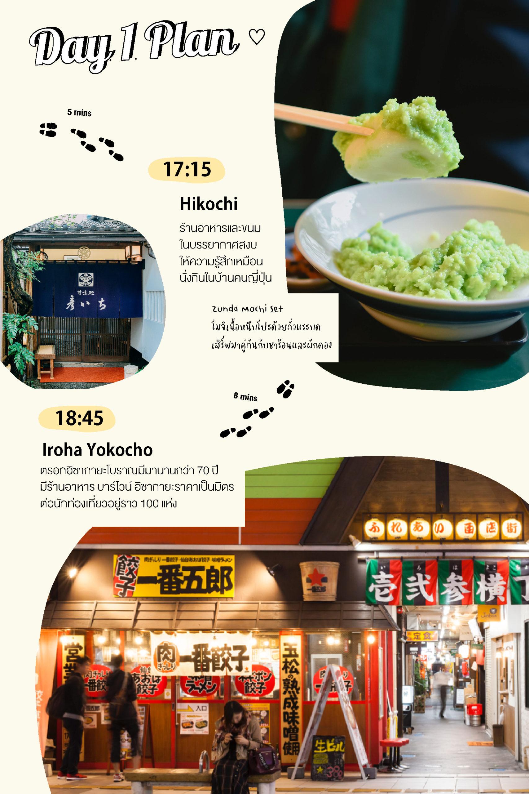 เที่ยวเซนได Day1 : Hikochi - Iroha Yokocho