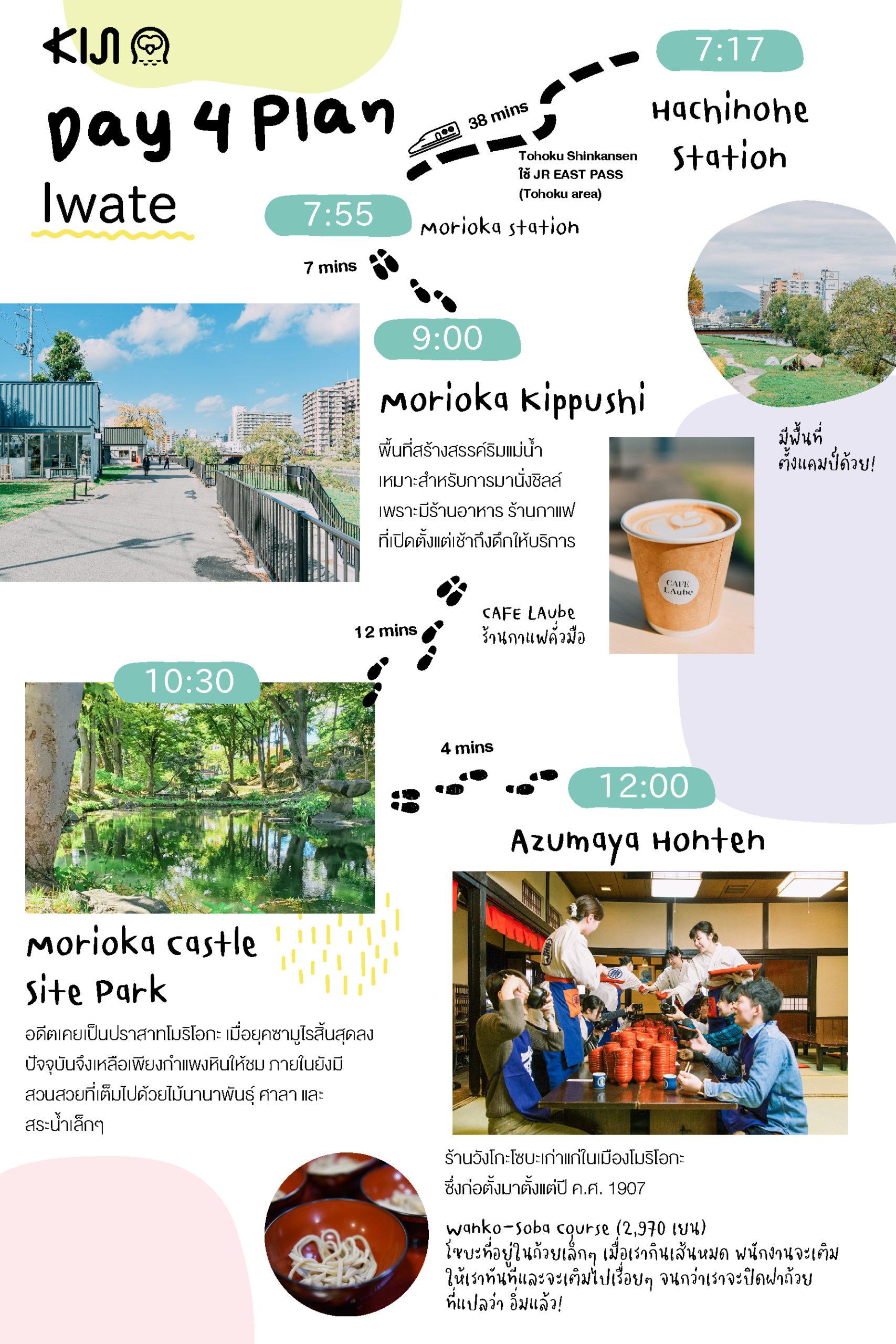 Day 4 : จาก อาโอโมริ (Aomori) ใช้บัตร JR EAST PASS (Tohoku area) นั่งชินคันเซ็นเที่ยวต่อที่ อิวาเตะ (Iwate)