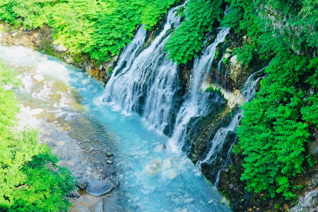 ฺBiei : Shirahige Waterfall