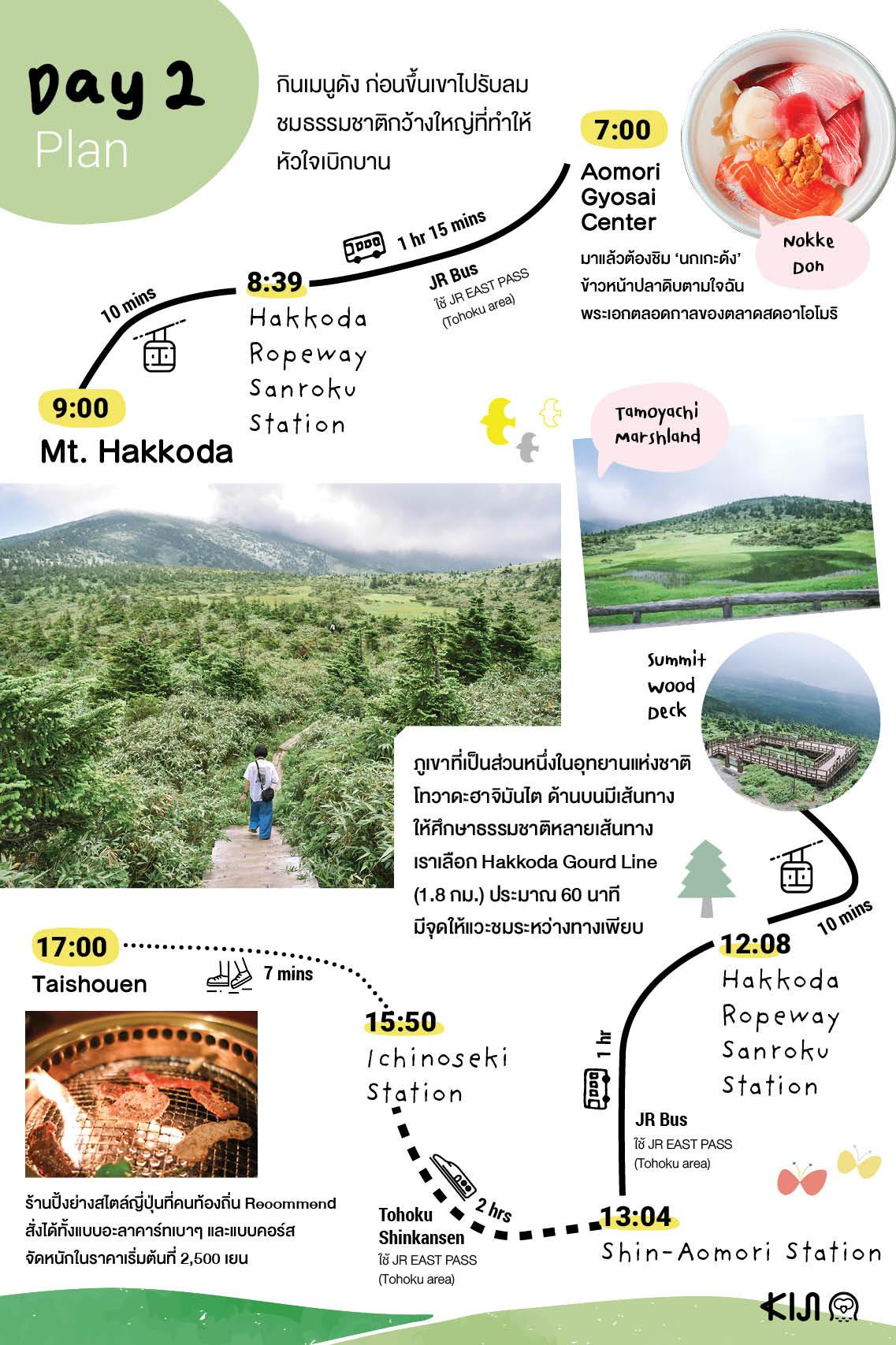 Day 2 Trip ฤดูร้อน อาโอโมริ อิวาเตะ