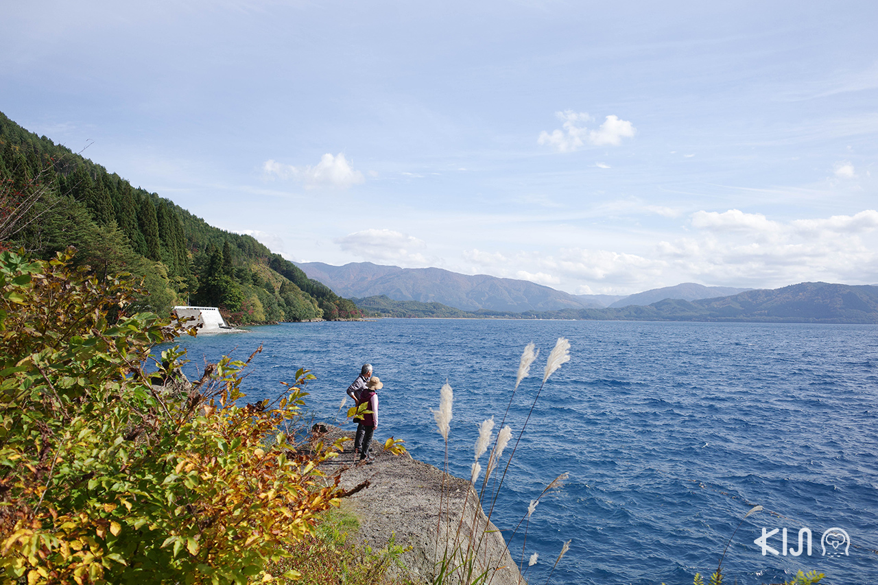 Lake Tazawa ทะเลสาบทาซาวะ ใบไม้เปลี่ยนสี อาคิตะ