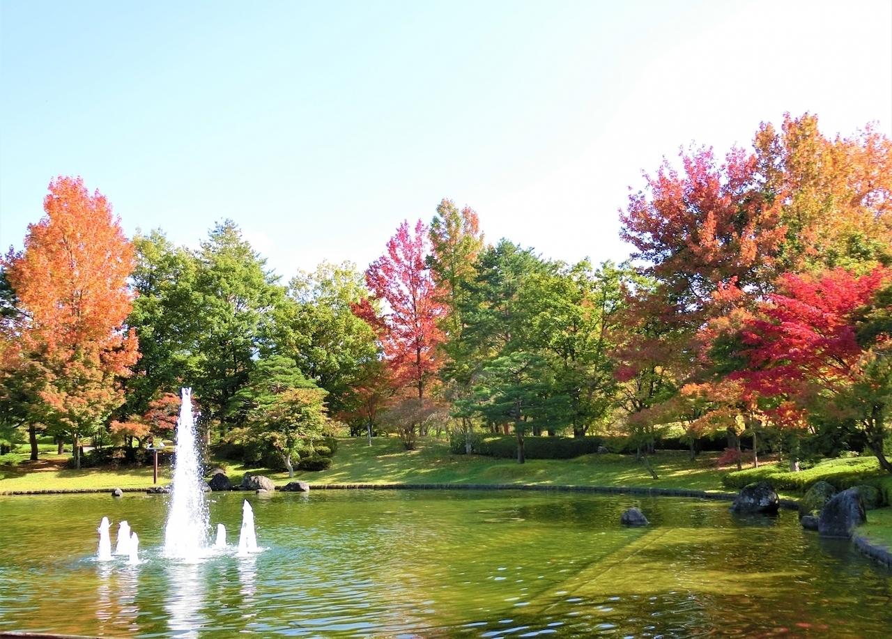 ใบไม้เปลี่ยนสี ยามากาตะ Momiji Park