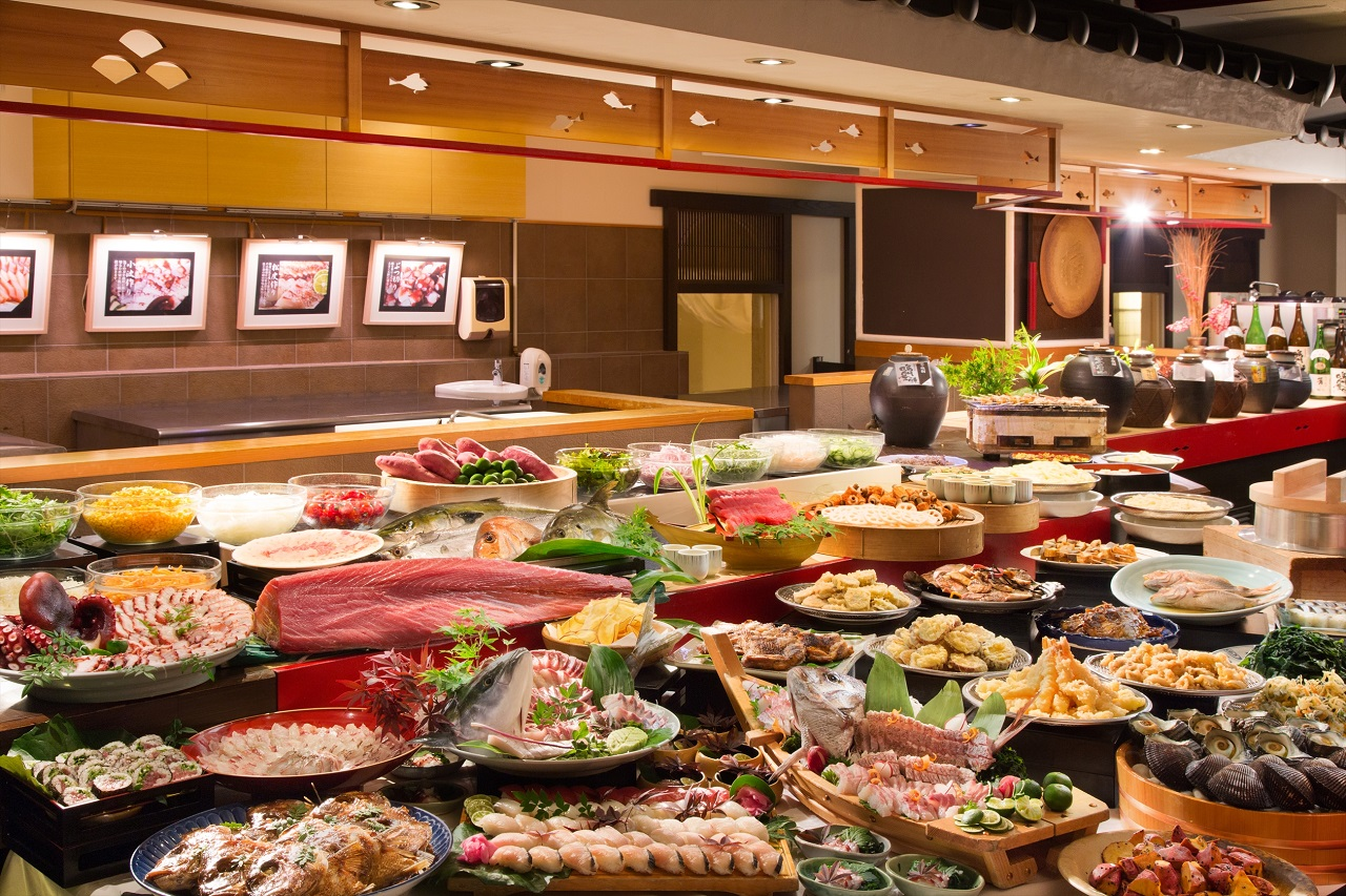 AoAwo Naruto Resort ห้องอาหาร ที่เสิร์ฟอาหารหลากหลายสุดๆ